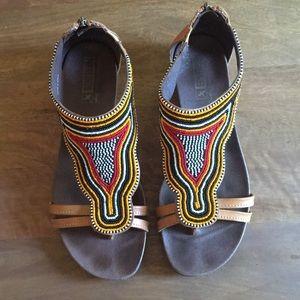 Pikolinos 40 beaded leather sandals gladiator